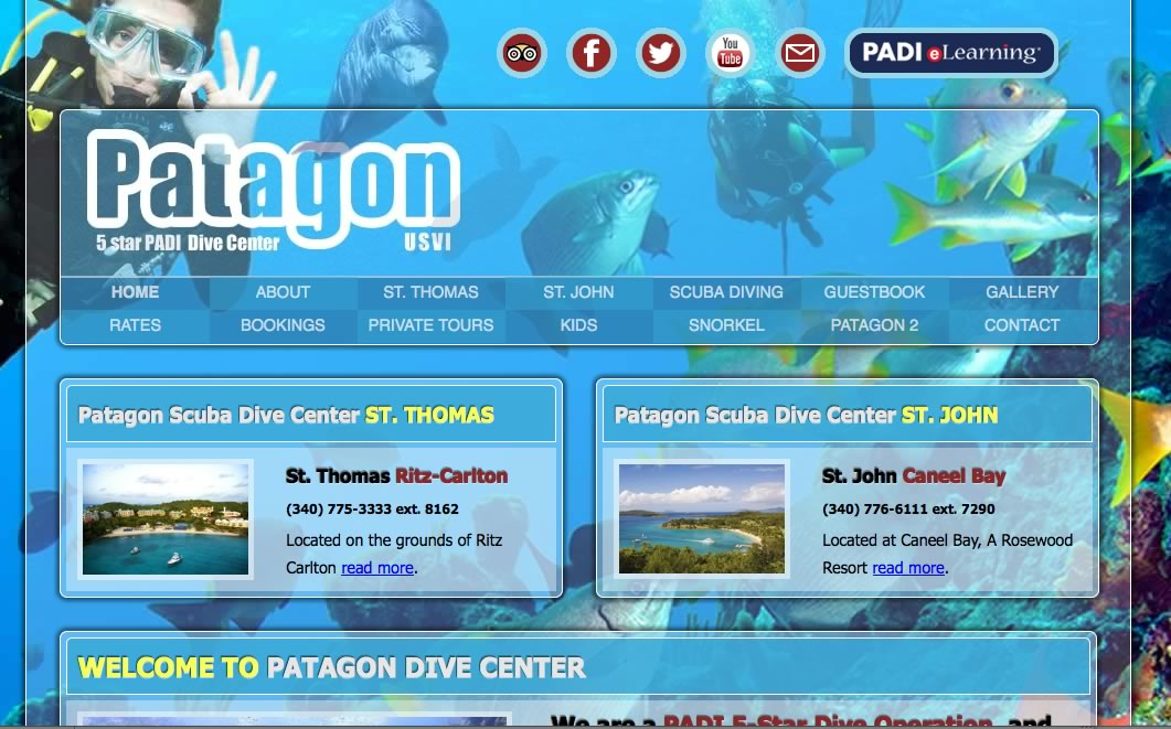 Patagon Scuba Dive Center in St. Thomas USVI